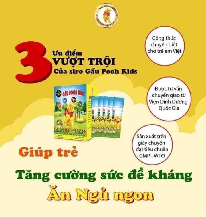 Siro gấu Pooh Kids có tốt không? Có nên sử dụng Siro gấu Pooh Kids cho bé?