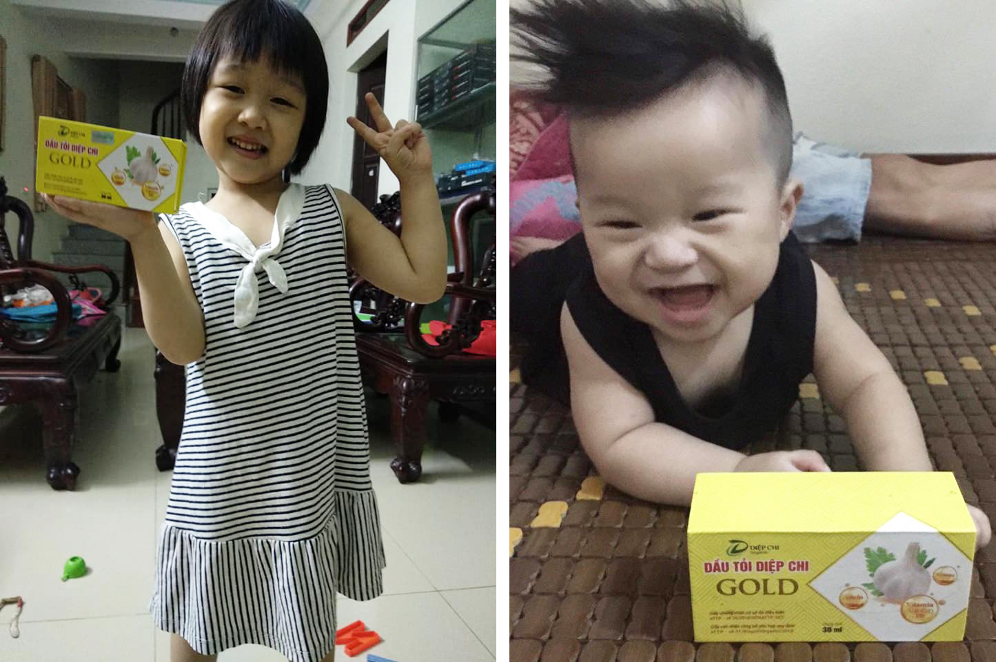 Cách dùng tinh dầu tỏi Diệp Chi cho bé
